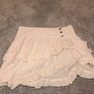 free people costello skirt in beige